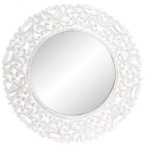 Espejo talla madera rozada